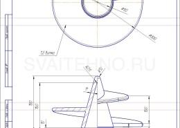 Чертеж - литой наконечник для винтовых свай 108-300