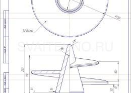Чертеж - литой наконечник для винтовых свай-133-350
