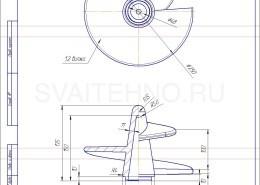 Чертеж - литой наконечник для винтовых свай-76-250