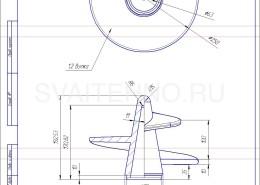Чертеж - литой наконечник для винтовых свай-89-250