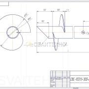 Чертеж - Винтовые сваи СВС диаметром 102 мм.