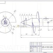 Чертеж - Винтовые сваи СВС-П диаметром 114 мм.