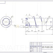 Чертеж - Винтовые сваи СВМ диаметром 168 мм.