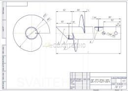 Чертеж - Винтовые сваи СВС-ЗТ диаметром 102 мм.