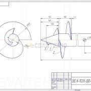 Чертеж - Винтовые сваи СВС-К диаметром 102 мм.