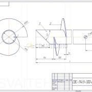 Чертеж - Винтовые сваи СВС-ЗТ диаметром 114 мм.
