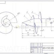 Чертеж - Винтовые сваи СВС-К диаметром 114 мм.