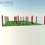 Фундамент 6 на 10 (шаг свай 2-2,5 м.)