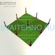 Фундамент 6 на 6 (шаг свай 3 метра)