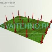 Фундамент 6 на 8, шаг 2 метра