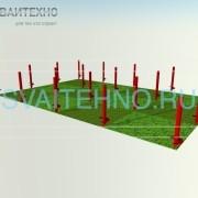 Фундамент 6 на 9 (шаг свай 2-2,5 м.)