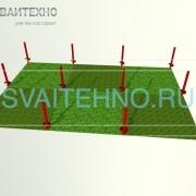 Фундамент 6 на 9 (шаг свай 3 метра)