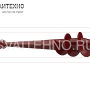 Винтовые сваи для забора с фланцем тип F (шуруп)