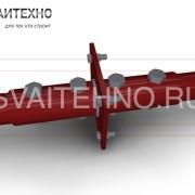 Болтовне соединение винтовой сваи через фланец + оголовок