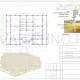 Схема расположения свай для фундамент двухэтажного дома из оцилиндрованного бревна