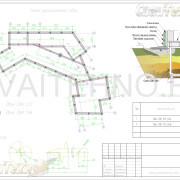 Схема расположения свай для фундамента жилого одноэтажного дома
