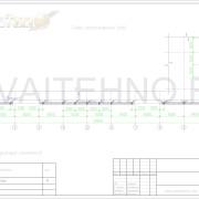"""Схема расположения свай для проекта фундамента реконструкции входной группы магазина """"Мебельный"""""""