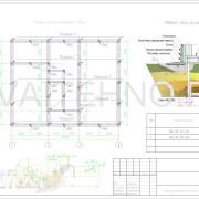 Схема расположения свай для фундамента 2-ух этажного дома из пеноблока