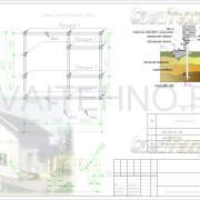 Схема расположения свай для фундамента дома из СИП панелей
