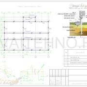 Схема расположения свай для фундамента каркасного дома с гаражом