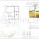 Схема расположения свай для фундамента двухэтажного дома 12000х9000мм