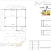 Схема расположения свай для фундамента дома из СИП панелей с мансардным этажом
