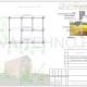 Схема расположения свай для фундамента дома из оцилиндрованного бревна с мансардным эиажом