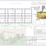 Схема расположения свай для жилого трехэтажного дома из СИП панелей