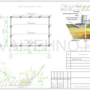 Схема расположения свай для фундамента двухэтажного гаража
