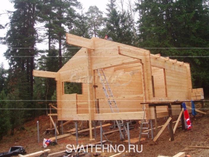 Строительство домов на склонах / винтовой фундамент на склоне