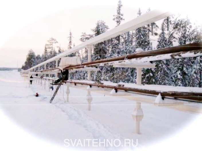 Винтовые сваи для нефтегазовых труб