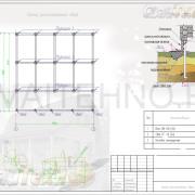 Схема расположения свай для строительства дома из СИП панелей