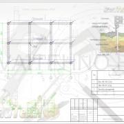 Схема расположения свай для строительства одноэтажного дома из оцилинрованного бревна