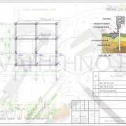 Схема расположения свай для строительства дома из оцилиндрованного бревна 220мм