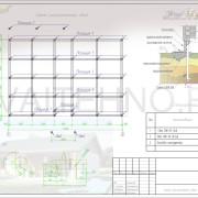 Схема расположения свай для строительства одноэтажного дома