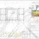 Схема расположения свай для строительства пристроя второго этажа к дому из бруса