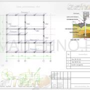 Схема расположения свай для строительства дома из профилированного бруса в 2 этажа