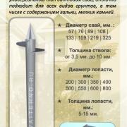 Цена на винтовые сваи СВК