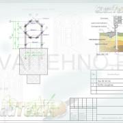 Схема расположения свай для строительства пристроя к часовне