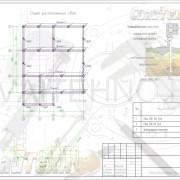 Схема расположения свай для строительства дома из бруса