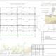 Схема расположения свай для строительства магазина по каркасной технологии