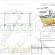 Схема расположения свай для строительства бани из шлакоблока