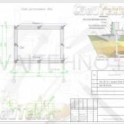 Схема расположения свай для строительства гаража из газоблока