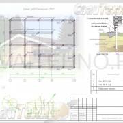 Схема расположения свай для строительства жилого дома из профилированного бруса