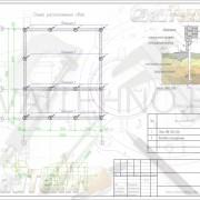 Схема расположения свай для строительства каркасного дома с мансардным этажом
