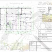 Схема расположения свай для строительства жилого одноэтажного дома с пристроем