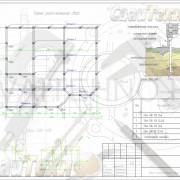 Схема расположения свай для строительства каркасного жилого дома