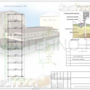 Схема расположения свай для строительства веранды
