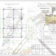 Схема расположения свай для строительства дома по каркасной технологии