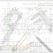 Схема расположения свай для строительства ангара